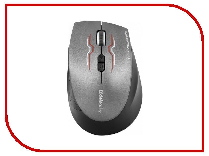 Мышь беспроводная Defender Magnifico MM-555 Nano Black 52555