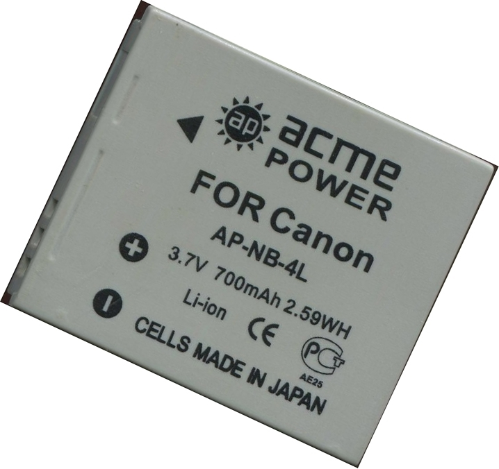 Аккумулятор AcmePower AP NB-4L / Dicom DC-4L