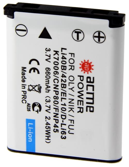 Аккумулятор AcmePower AP Li-42B / Li-40B (схожий с Olympus Li-40B/42B) цена