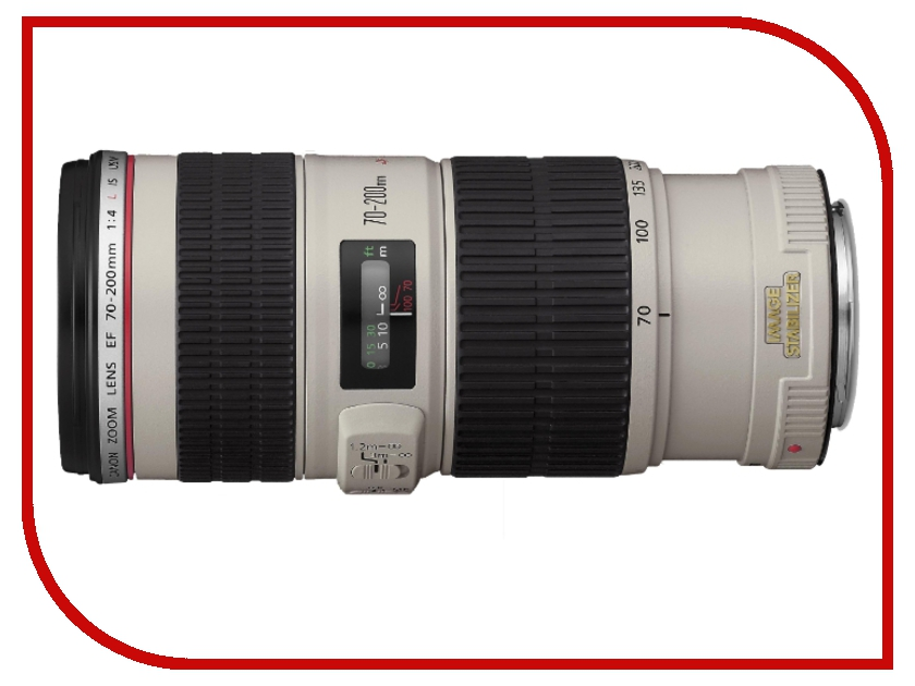 Объектив Canon EF 70-200mm f/4L IS USM объектив для фотоаппарата canon ef 16 35mm f 4l is usm 9518b005