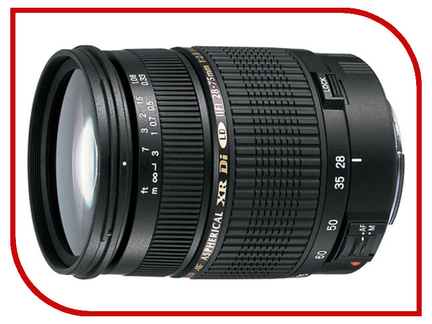 Объектив Tamron SP AF 28-75mm f/2.8 XR Di LD Aspherical (IF) Canon EF acq63 75 airtac type aluminum alloy thin cylinder all new acq63 75 series 63mm bore 75mm stroke