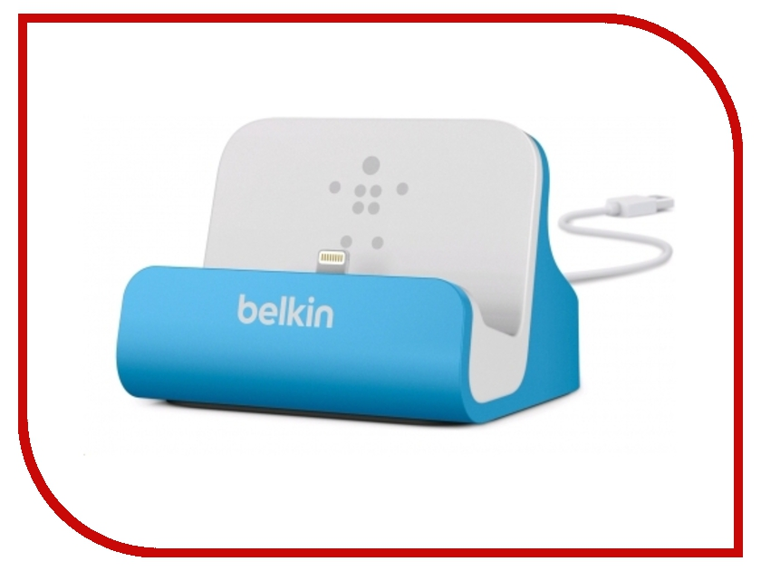 Аксессуар Док-станция Belkin ChargeSync Dock для iPhone 5 Blue F8J045btBLU<br>