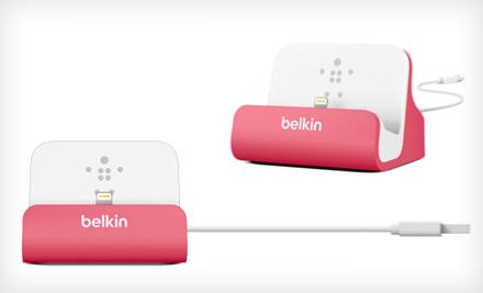 Аксессуар Док-станция Belkin ChargeSync Dock for iPhone 5 Pink F8J045btPNK