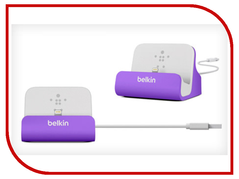 ��������� ���-������� Belkin ChargeSync Dock ��� iPhone 5 Purple F8J045btPUR