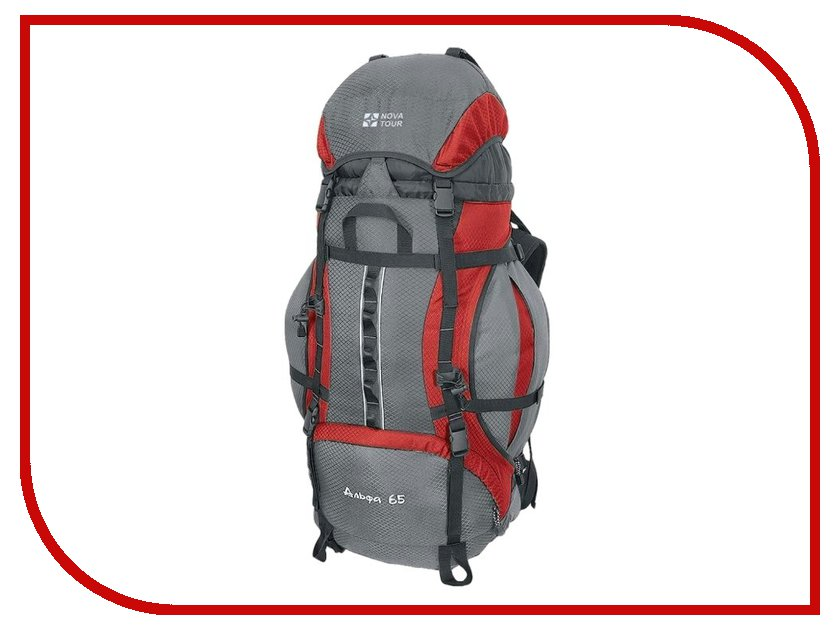 Рюкзак Nova Tour Альфа 65 V2 Grey-Red 95311-057-00 сумки nova tour сумка