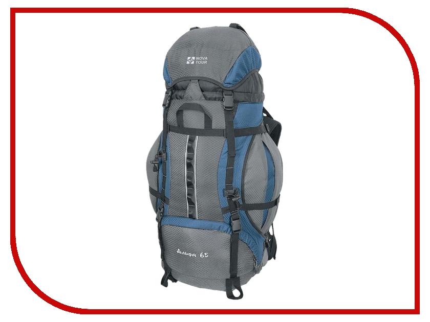 Рюкзак Nova Tour Альфа 65 V2 Grey-Blue 95311-463-00