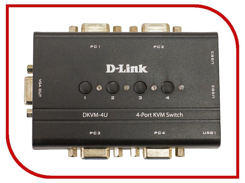 Переключатель KVM D-Link DKVM-4U купальники марк и андре интернет