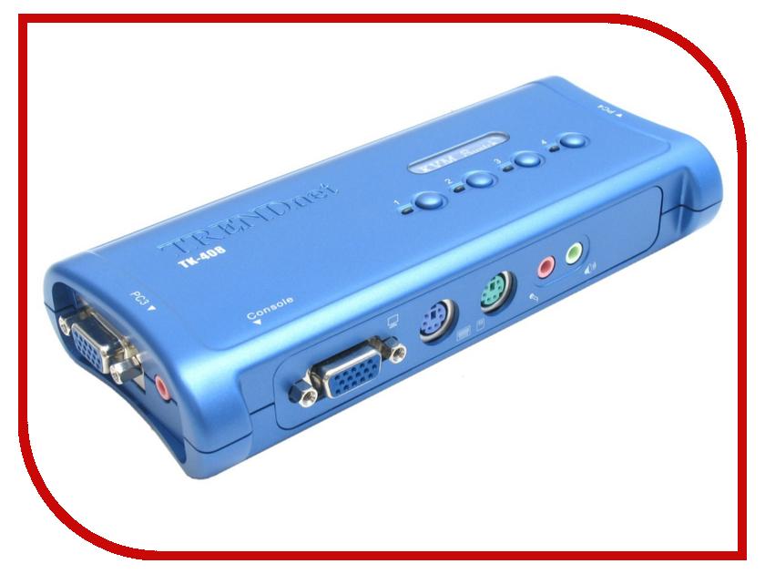 Переключатель KVM TRENDnet TK-408K kvm переключатель trendnet tk 408k tk 408k