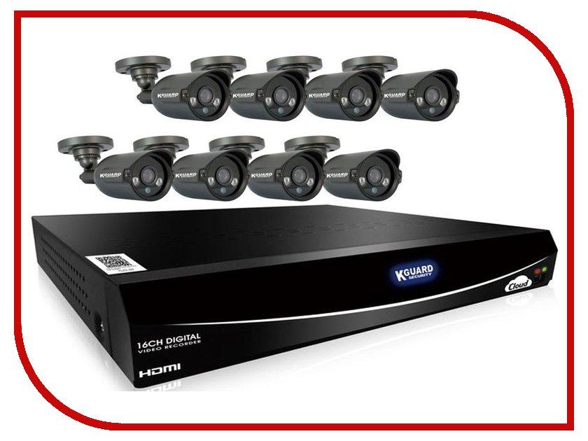 Видеонаблюдение KGuard EL1621-8HW212B комплект видеонаблюдения kguard el421 4hw212b