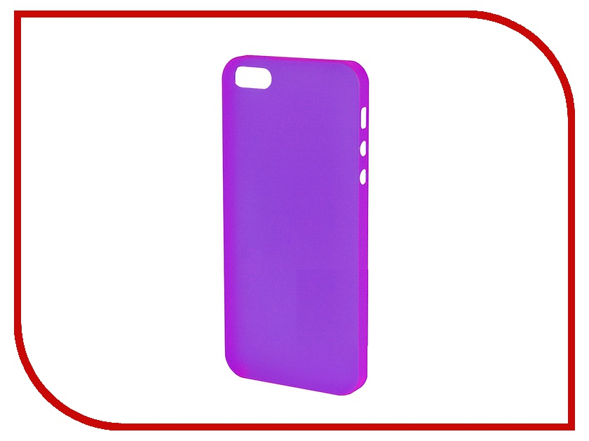 Аксессуар Чехол-накладка Just Case for iPhone 5 ультратонкий Purple<br>