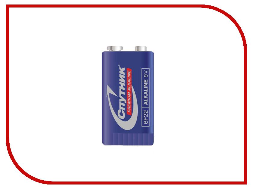 Батарейка КРОНА - Спутник Premium Alkaline 6LR61/1B