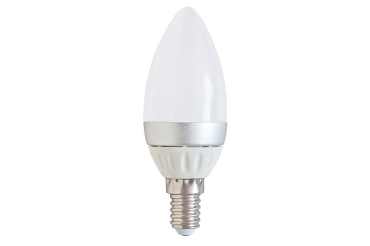Лампочка Спутник LED C37 E14 4W 220V 4000K 16-C37-4W-E14<br>