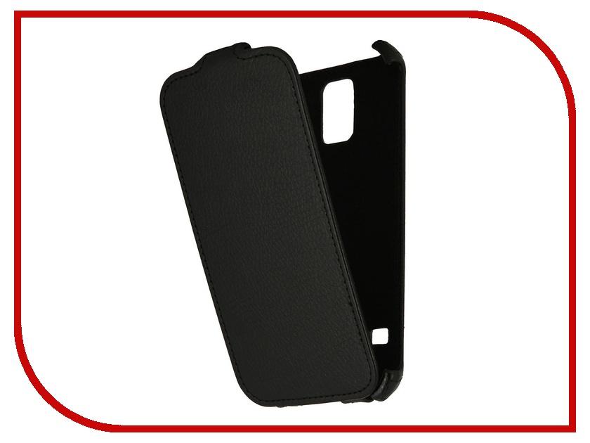 Аксессуар Чехол Samsung ST-i9600 Galaxy S5 Ainy кожаный Black<br>