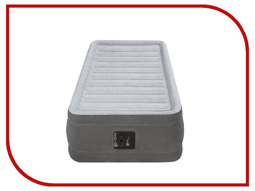 Надувной матрас Intex 99x191x33cm 67766 кровать intex comfort plush со встроенным насосом 220в intex 67766