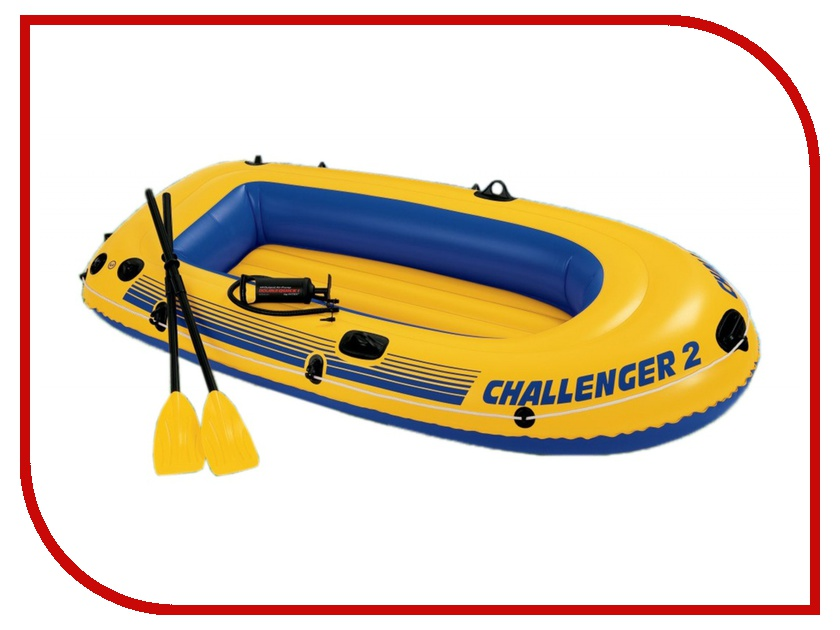 Лодка Intex Challenger-2 Set 68367 лодка intex challenger k1 68305
