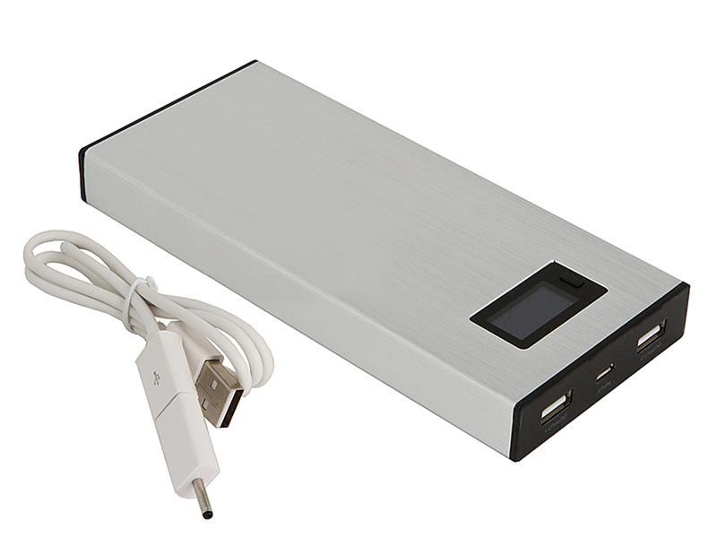 Внешний аккумулятор Ross&Moor Power Bank PB-MS010 12000 mAh Silver стоимость