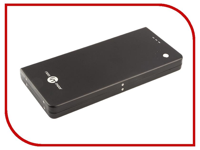 Аккумулятор Ross&Moor PB-12000 12000mAh Black аккумулятор red line rs 12000 power bank 12000mah silver ут000015559