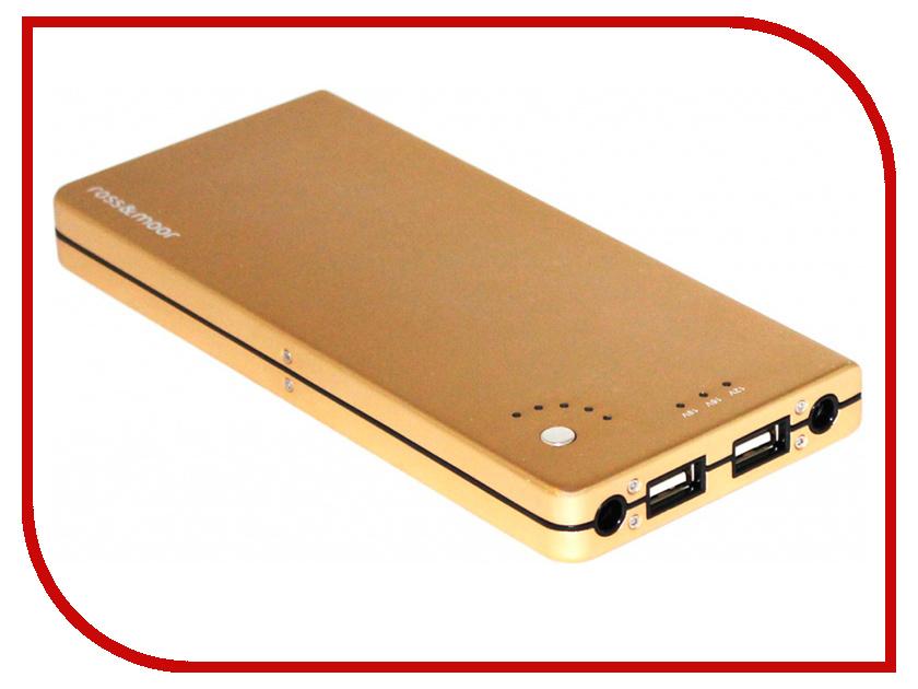 Аккумулятор Ross&Moor PB-12000 12000 mAh Gold аккумулятор asus a32 1015 for 1015 1016 1215 palmexx 5200 mah pb 253 black