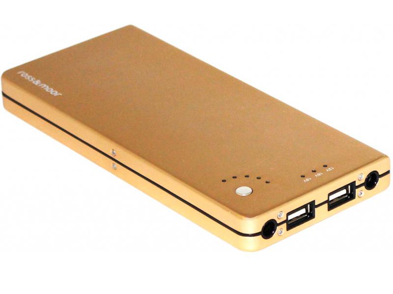Аккумулятор Ross&Moor PB-12000 12000 mAh Gold аккумулятор ross