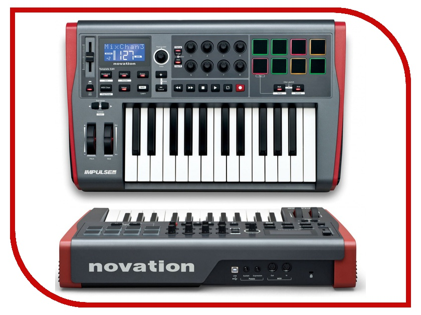 Midi-клавиатура Novation Impulse 25<br>