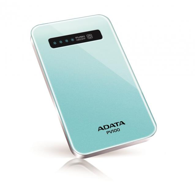 Аккумулятор A-Data Power Bank PV100 4200 mAh Blue APV100-4200M-5V-CBL