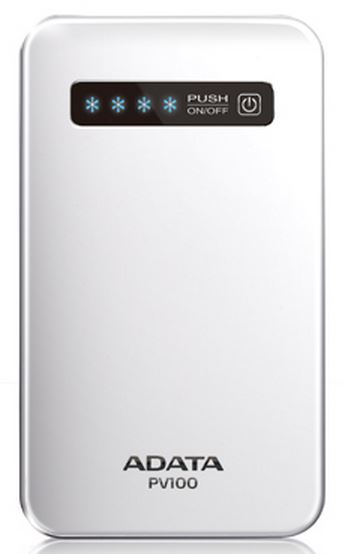 Аккумулятор A-Data Power Bank PV100 4200 mAh White APV100-4200M-5V-CWH