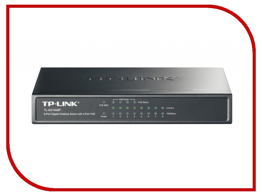 Маршрутизаторы и коммутаторы TL-SG1008P  TP-LINK TL-SG1008P