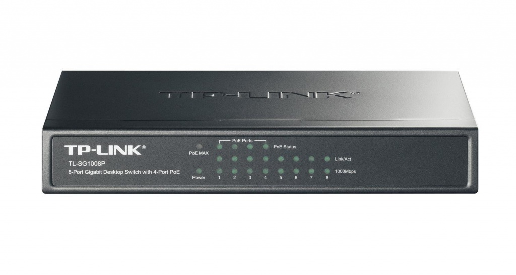 Коммутатор TP-LINK TL-SG1008P tp link tl poe200