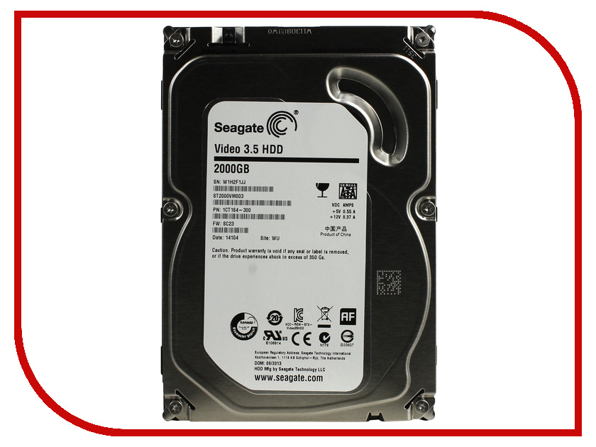 Жесткий диск 2Tb - Seagate ST2000VM003 Video 3.5 2tb seagate barracuda st2000dm001