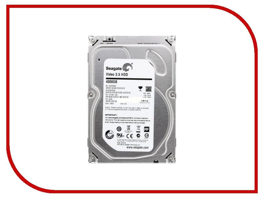 Жесткий диск 4Tb - Seagate ST4000VM000 Video 3.5 жесткий диск 4tb seagate st4000vm000 video 3 5
