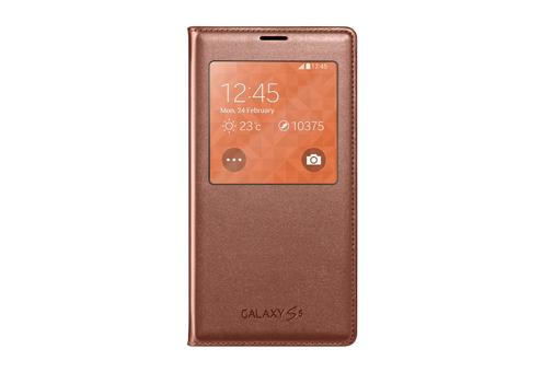 Аксессуар Чехол Samsung SM-G900F Galaxy S5 EF-CG900BFEGRU Gold<br>