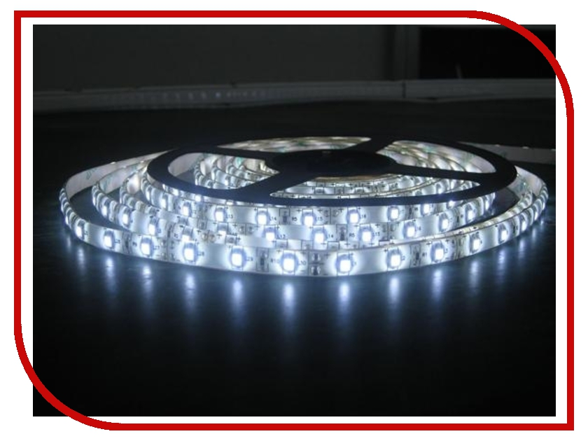 Светодиодная лента LUNA LS 3528 60led/m 12V 24W 5m IP20 CW 60001 merdia ledcoo4h3 48w 1500lm 300 smd 3528 led green light for car decoration light strip 5m 12v