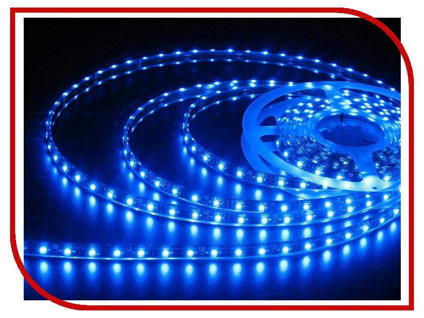 Светодиодная лента LUNA LS 3528 120led/m 12V 48W 5m IP20 Blue 60057<br>
