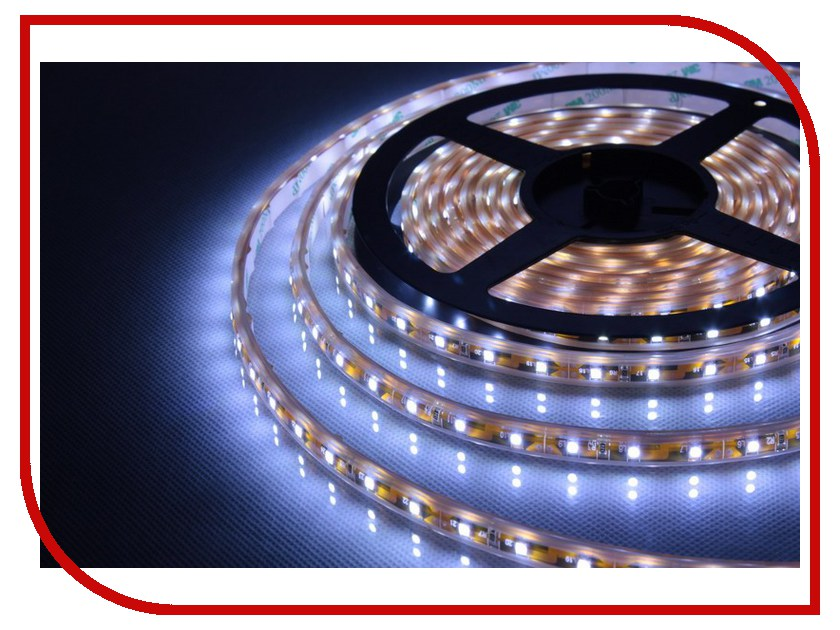 Светодиодная лента LUNA LSW 3528 60led/m 12V 24W 5m IP65 CW 60008 светодиодная лента luna lsw 5050 60led m 12v 72w 5m ip65 rgb 60042