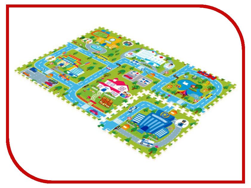 Развивающий коврик Mambobaby Счастливый город 70004 развивающий коврик mambobaby город односторонний 60512