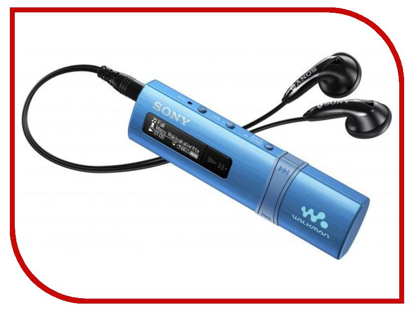 Плеер Sony NWZ-B183F Walkman - 4Gb Blue mp3 плеер sony nwz b183f 4gb red page 1