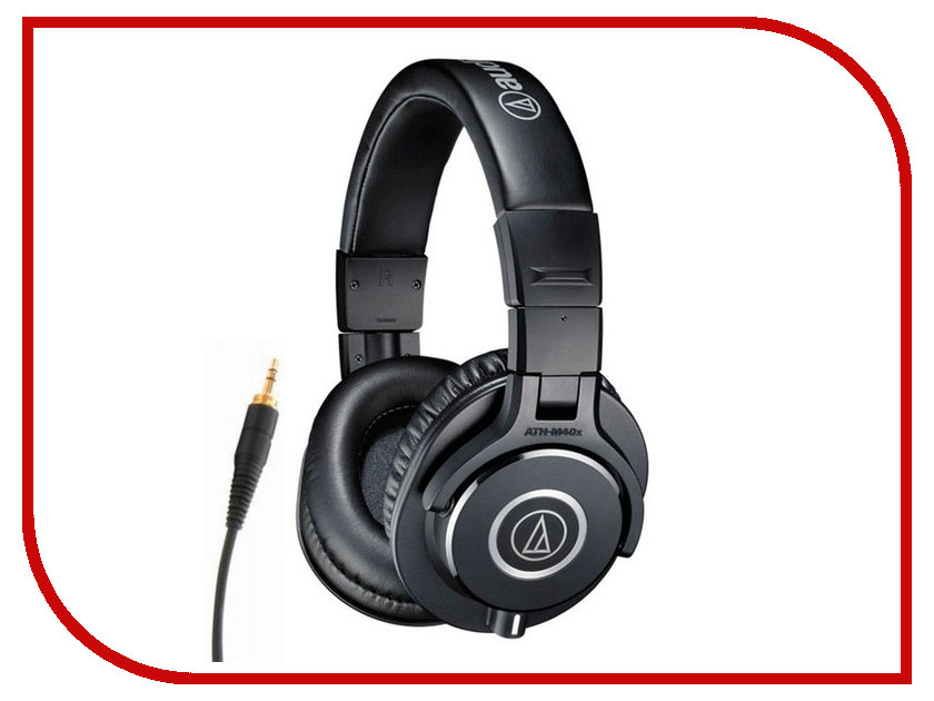 Audio-Technica ATH-M40X audio technica ath ls50is 15119537 внутриканальные наушники red