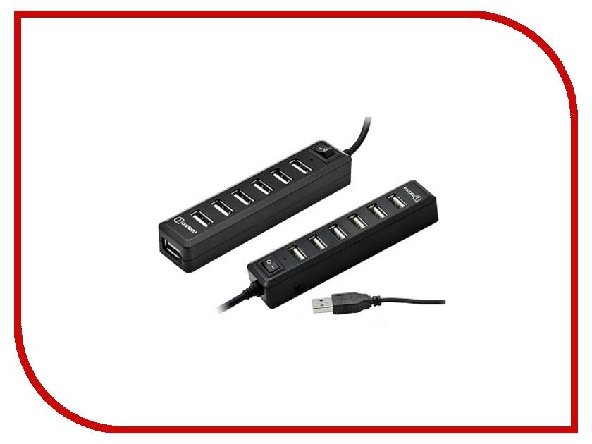 Концентратор USB ATEN UH284Q6 4порта USB2.0 черный (UH284Q9-A)
