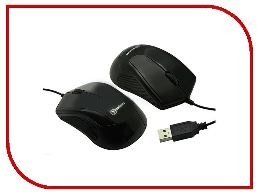 Мышь проводная Oxion OMS012BK Black<br>