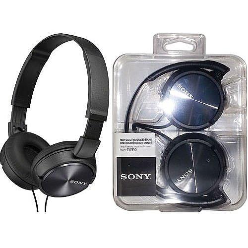 Sony MDR-ZX310/B Black цена в Москве и Питере