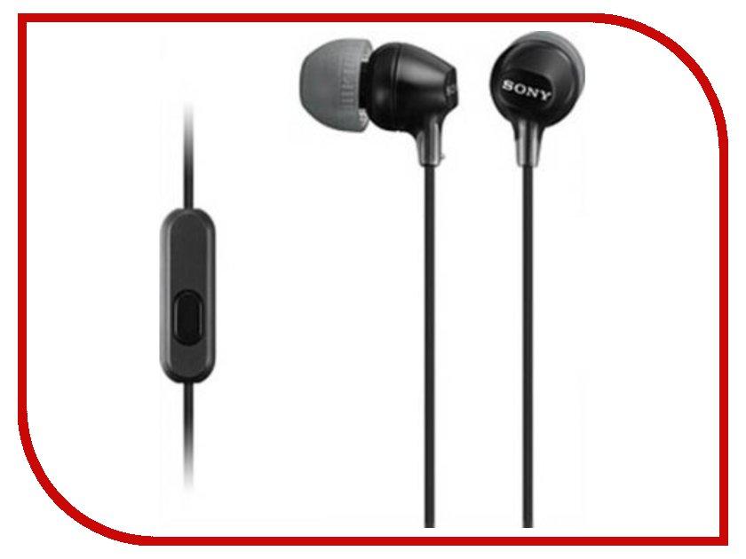 Гарнитура Sony MDR-EX15AP Black<br>