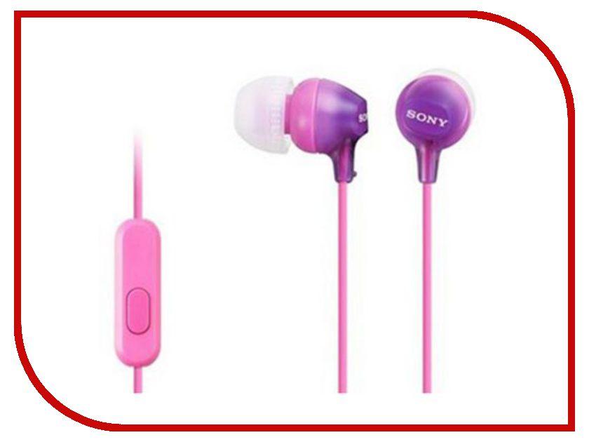 Sony MDR-EX15AP Purple цена и фото