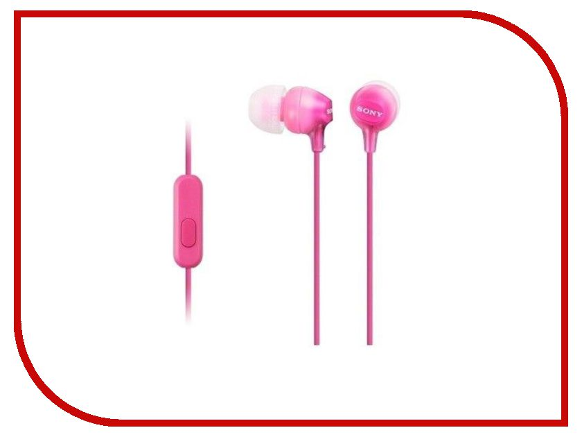 Гарнитура Sony MDR-EX15AP Pink sony mdr ex15ap headphones with mic