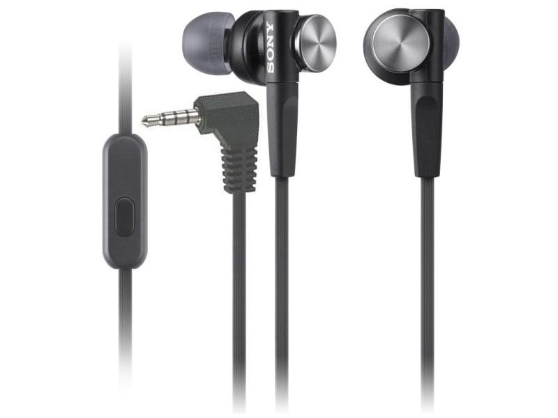 Sony MDR-XB50AP Black гарнитура sony mdr xb50ap вкладыши черный проводные