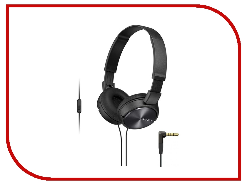Гарнитура Sony MDR-ZX310AP Black philips наушники philips she8100bl 00 стерео