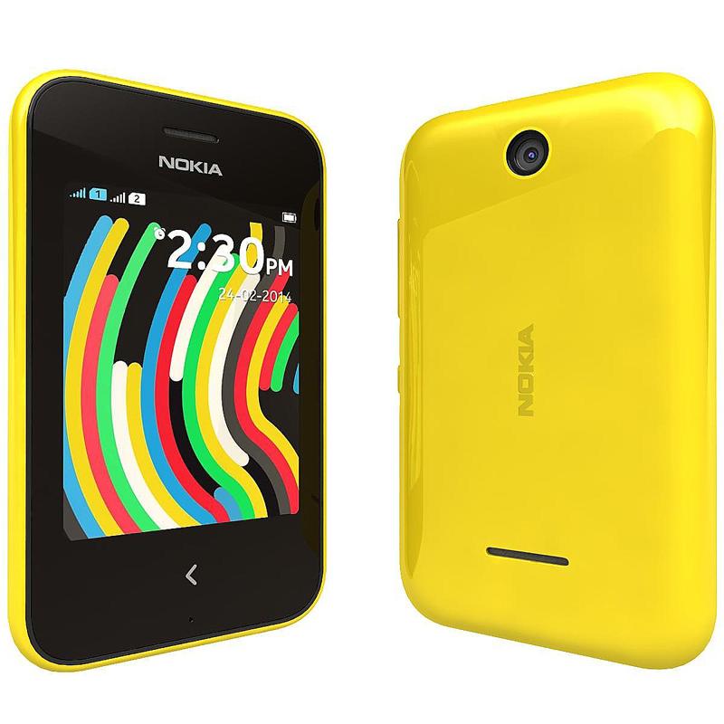 Сотовый телефон Nokia 230 Asha Dual Sim Yellow