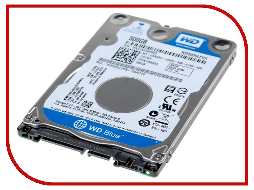 Жесткий диск 500Gb - Western Digital Blue WD5000LPVX<br>