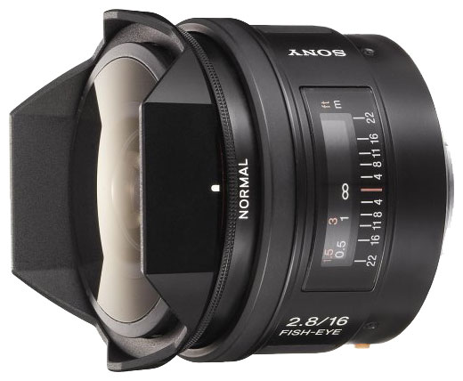 Объектив Sony SAL-16F28 16 mm F/2.8 Fisheye*<br>