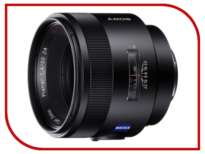 все цены на Объектив Sony Carl Zeiss Planar T* 50mm f/1.4 ZA SSM (50F14Z) онлайн