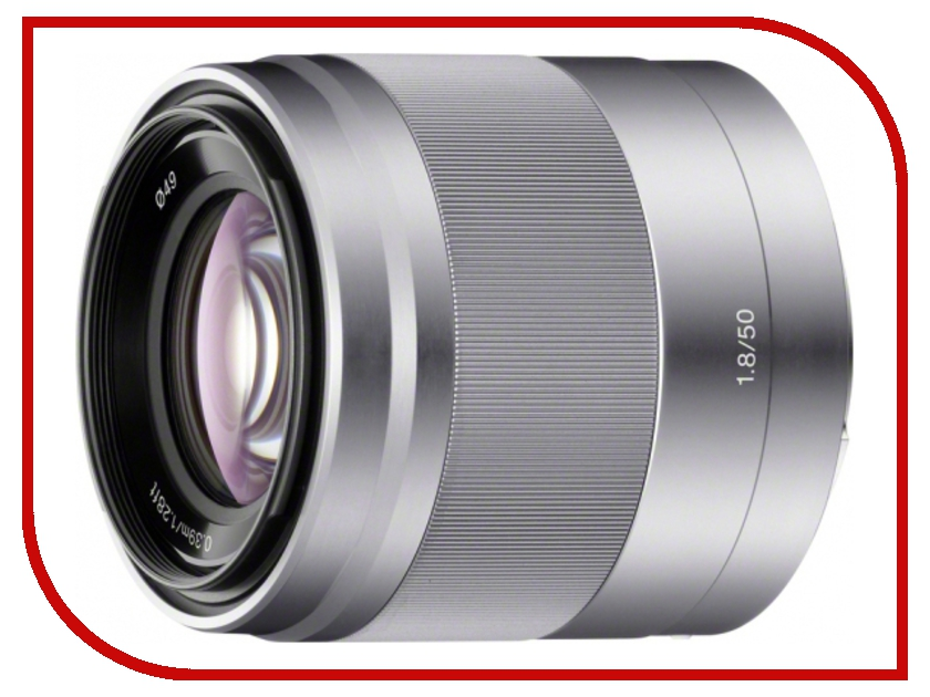Объектив Sony SEL-50F18 50 mm F/1.8 OSS E for NEX Silver* pk nex pentax pk lens to nex f3 nex 5n 5r nex7 mount adapter ring black